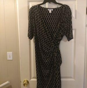 Motherhood Maternity Wrap Dress Black/White Sz XL
